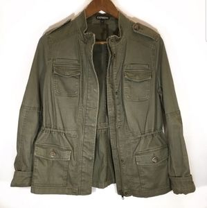 EXPRESS Army Green utility jacket